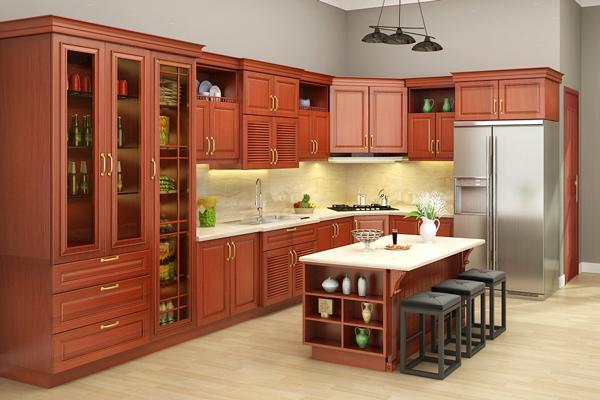 10+ Mẫu Kệ Bếp Gỗ Đẹp Nhất - Thi Công Và Lắp Ráp Nhanh Chóng