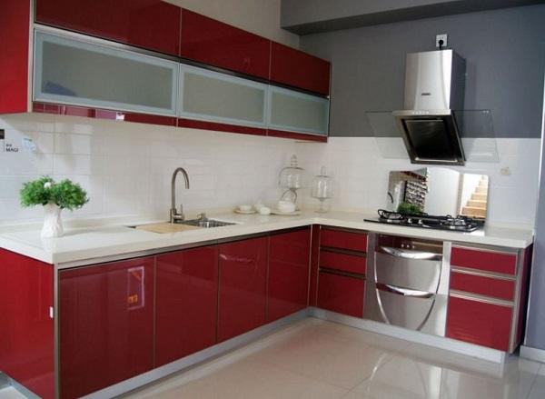 tủ bếp Arylic chữ L