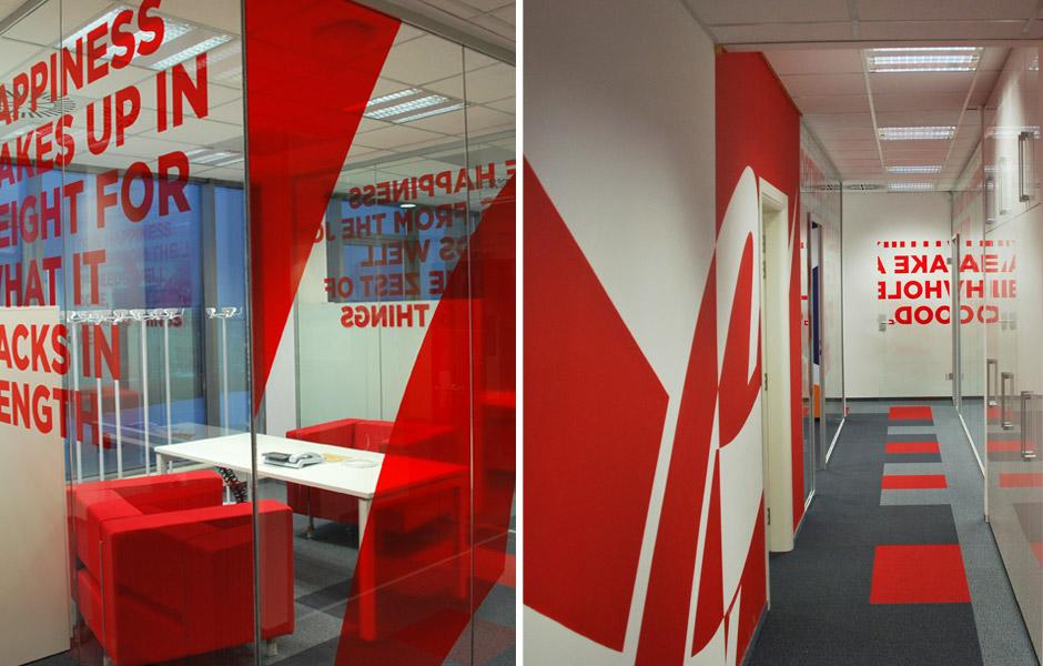 Nội thất văn phòng Coca – Cola tại Bulgari