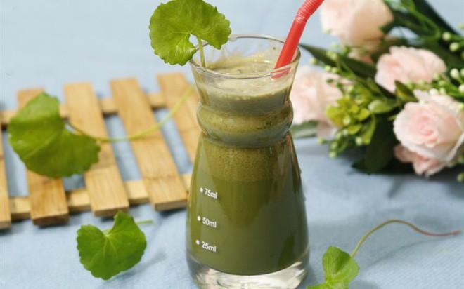 Uống nước rau má xay hoặc sinh tố rau má giúp đẹp da, thanh nhiệt cơ thể