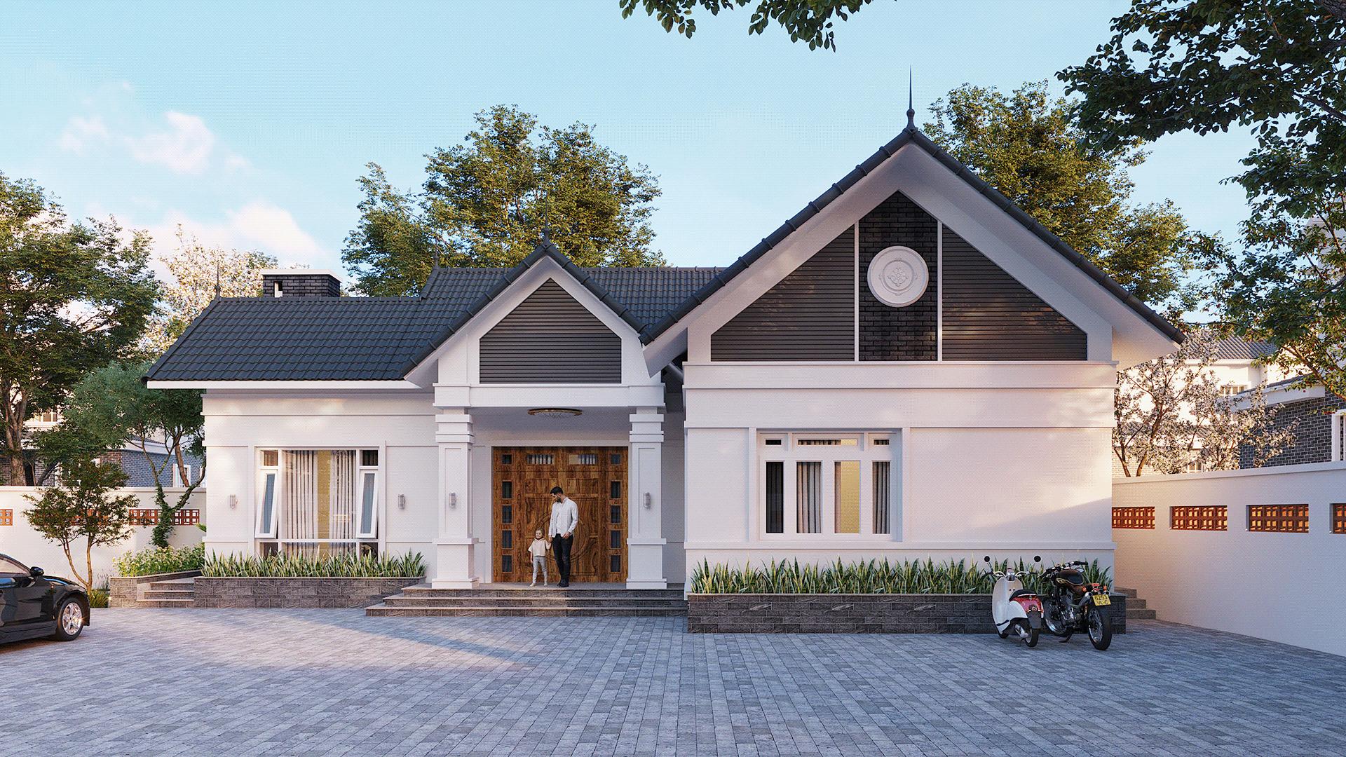[Giới thiệu] Thiết kế nhà cấp 4 hiện đại đẹp tới nao lòng