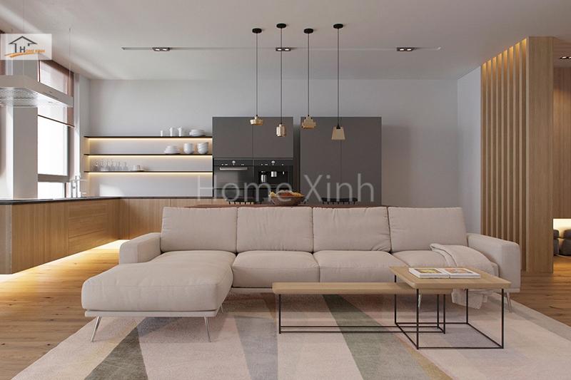 Sự sáng tạo trong thiết kế nội thất không gian mở