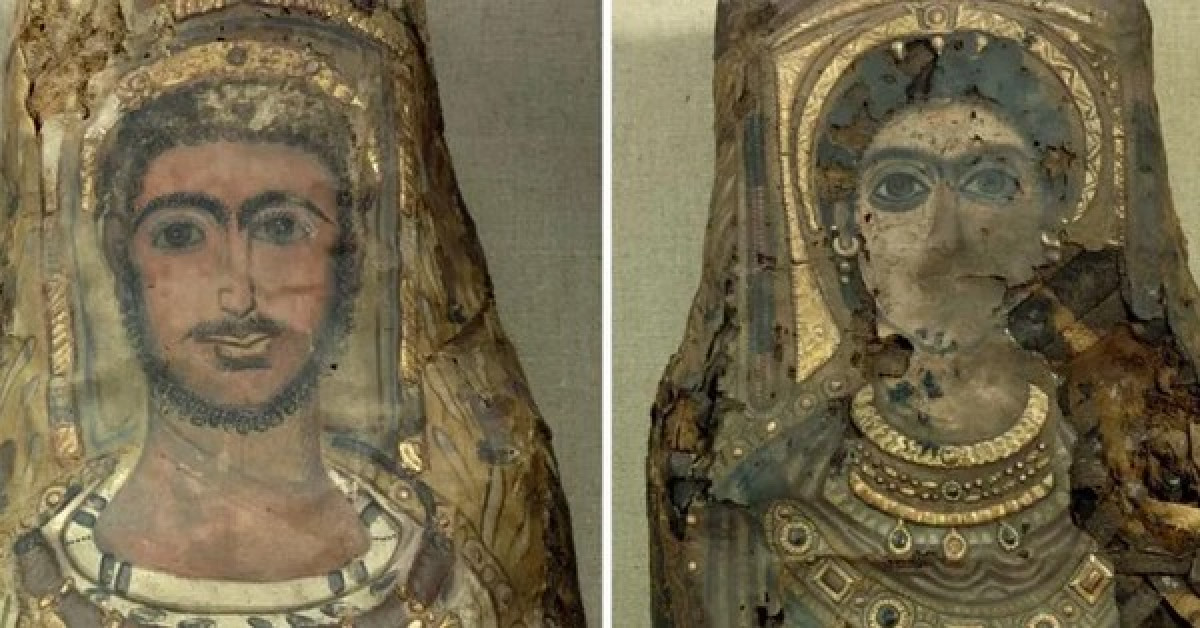 Rùng mình 3 bức tượng dát vàng là xác người 2.000 năm phủ vữa - 1
