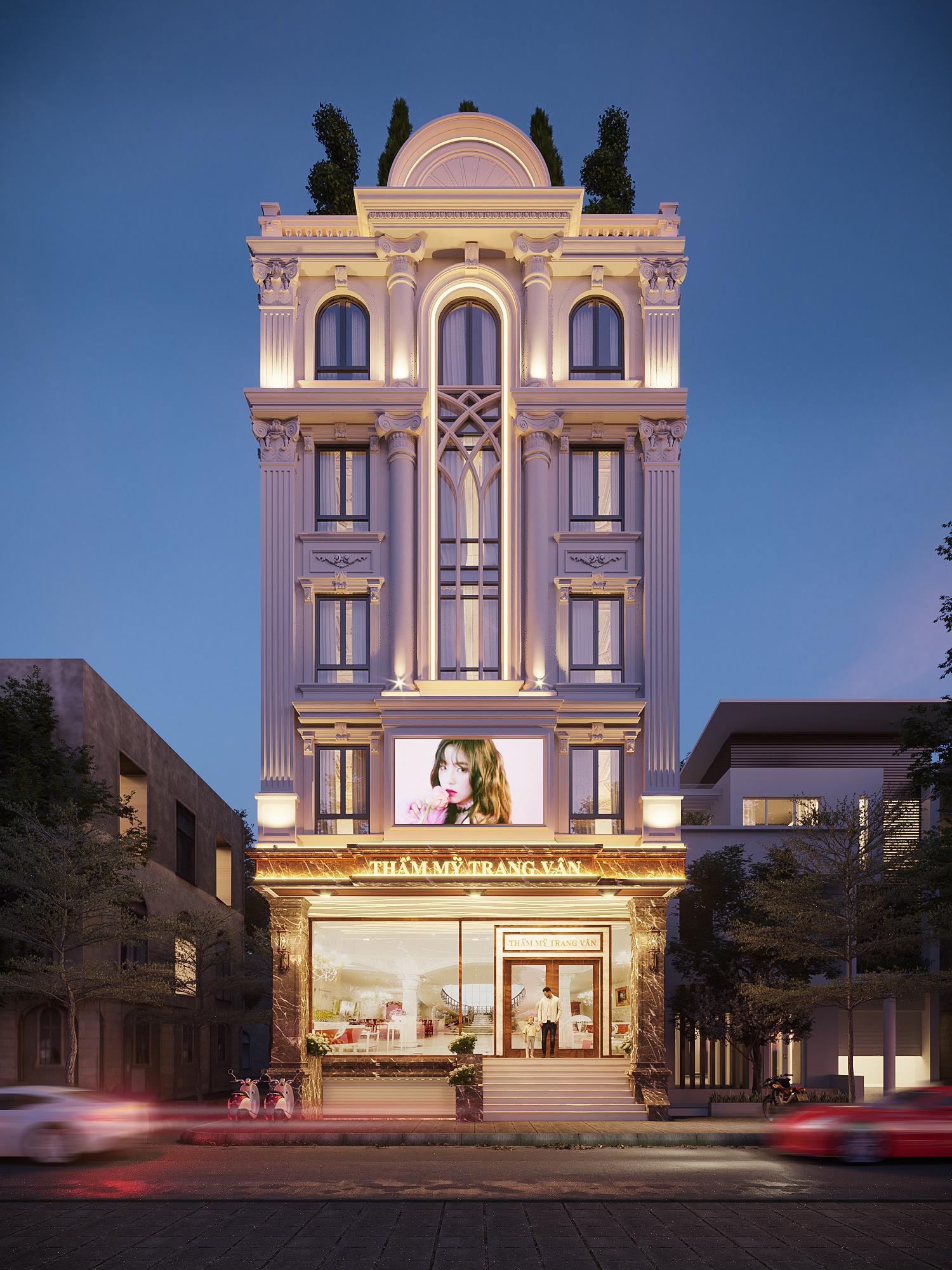 Thiết kế kiến trúc nội thất thẩm mỹ viện sang trọng