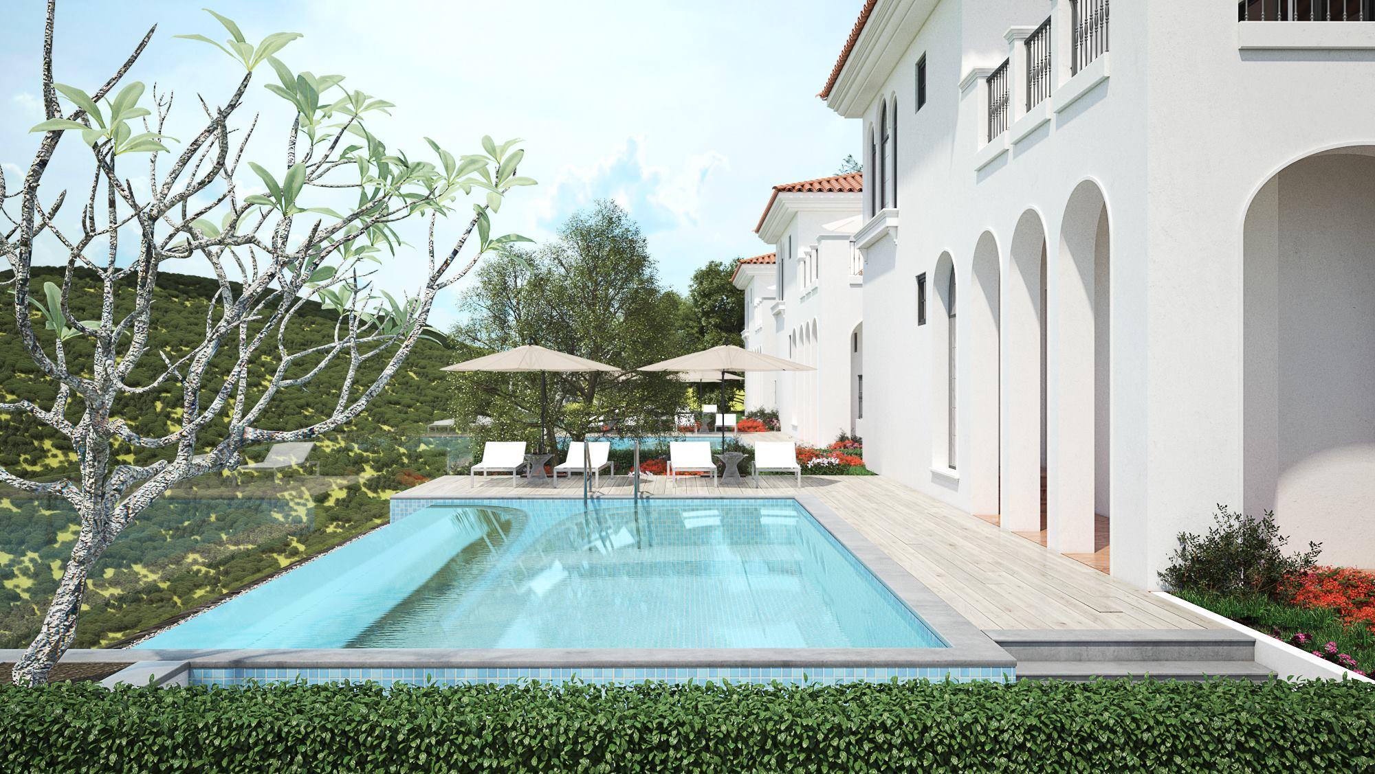 Thiết kế kiến trúc biệt thự sân vườn cuốn hút