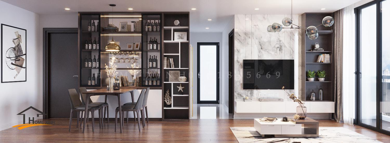 Thiết kế nội thất chung cư Ecogreen – chị Hoa