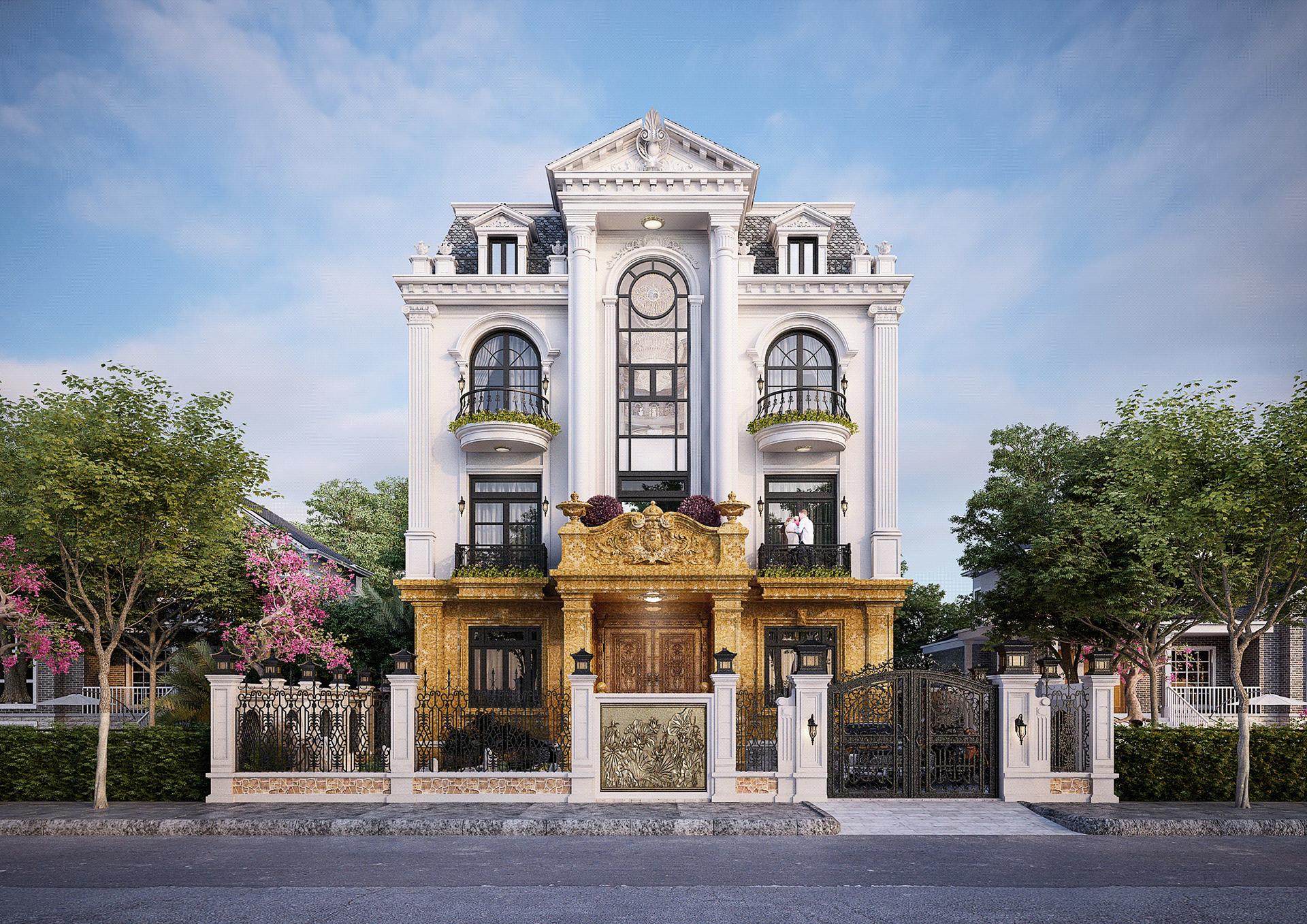 [Giới thiệu] Hình ảnh mẫu thiết kế kiến trúc biệt thự luxury