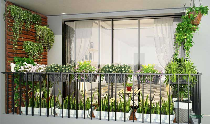 TƯ VẤN : Thiết kế Logia trong chung cư tiện nghi