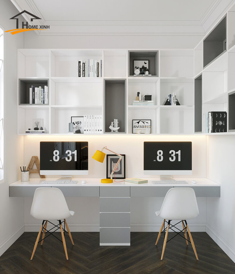 Thiết kế nội thất phòng làm việc tại nhà chuyên nghiệp – HomeXinh