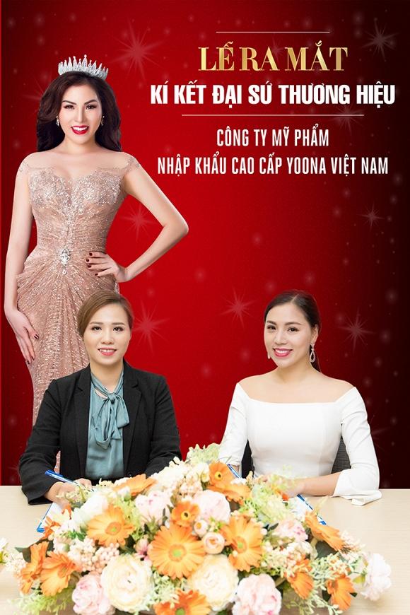 Á hậu Kathy Hương trở thành Đại sứ thương hiệu mỹ phẩm nhập khẩu cao cấp Yoona Việt Nam