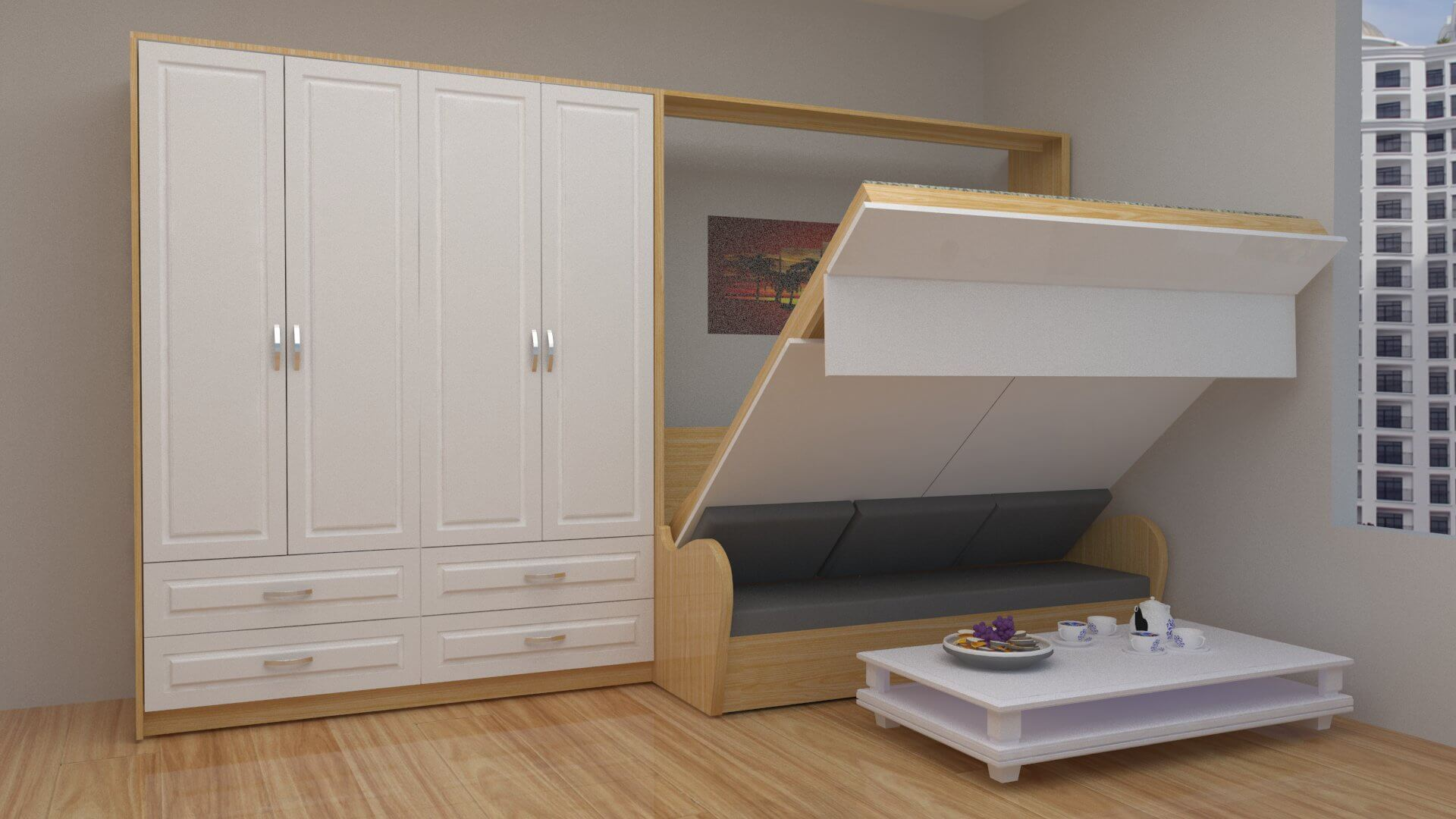 Nội thất thông minh phù hợp với không gian chung cư