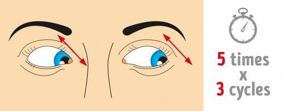 8 bài tập mà những người bị mỏi mắt cần phải làm