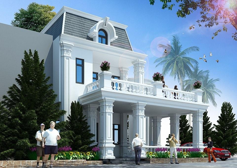 Biệt thự tân cổ điển 2 tầng Anh Tài Hà Nam – HomeXinh