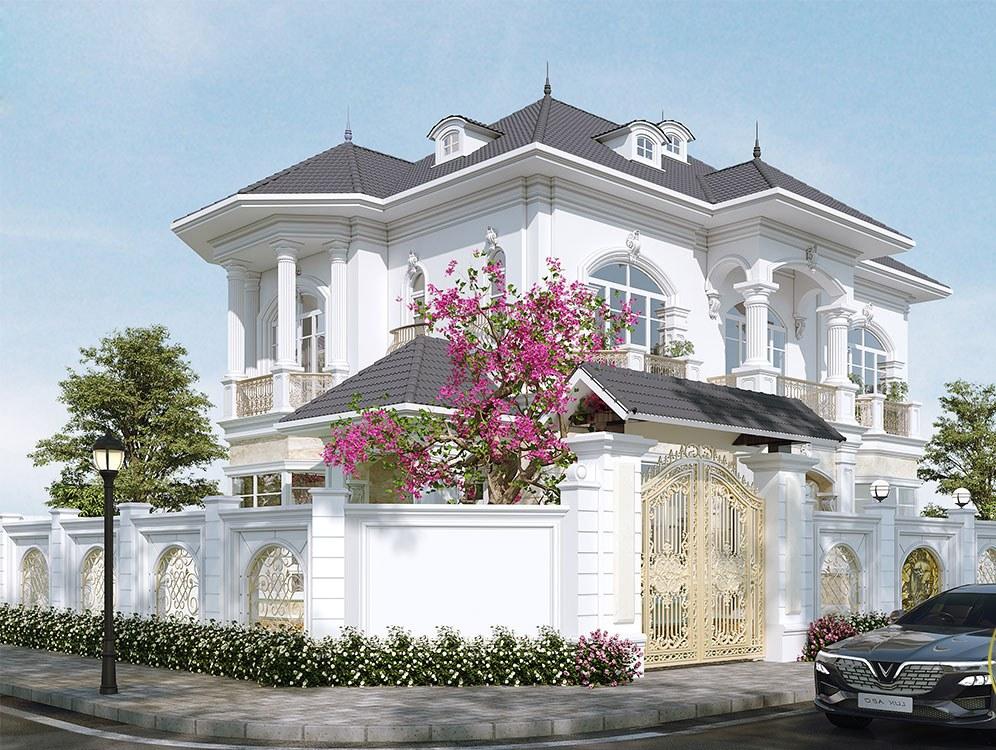 Thiết kế biệt thự 2 tầng tân cổ điển tại Nghệ An