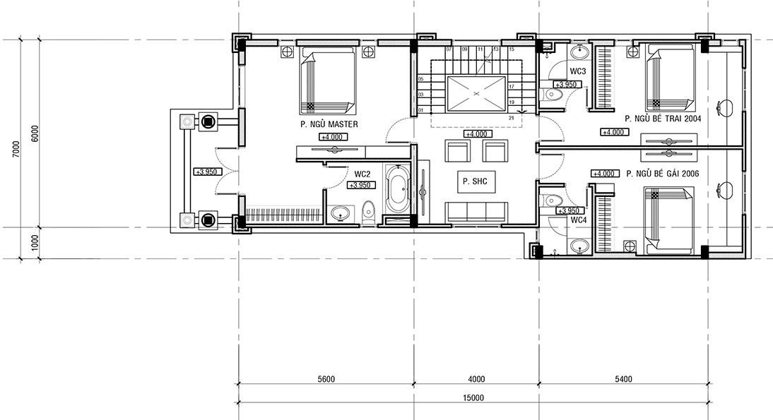 Thiết kế biệt thự tân cổ điển 3 tầng tại Thái Bình