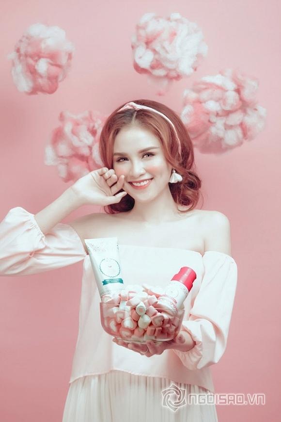 Diễm Hương xinh hơn Hotgirl Hàn Quốc khi làm Đại sứ thương hiệu Mỹ phẩm Kosxu