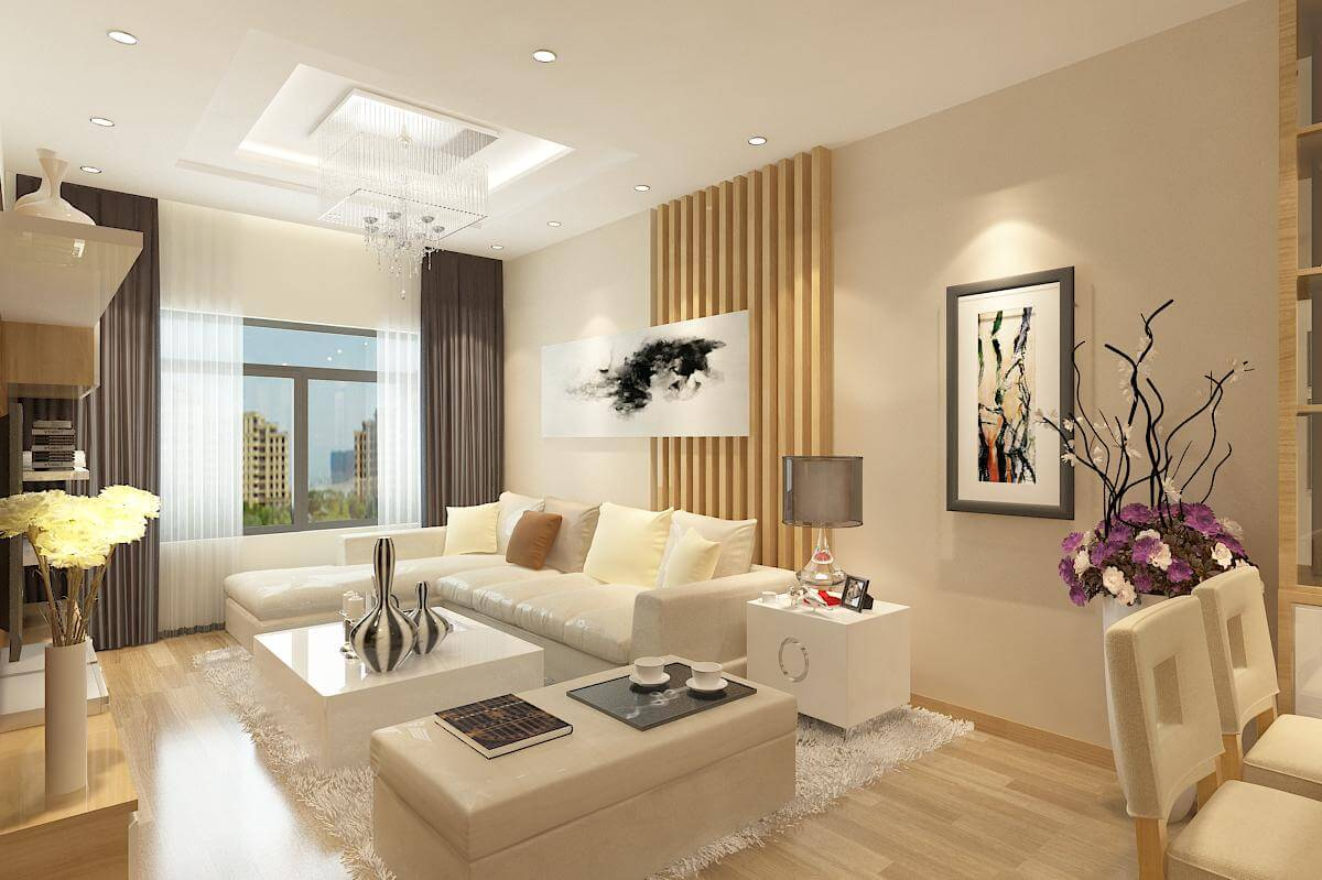 Những lưu ý khi thiết kế nội thất chung cư 54m2