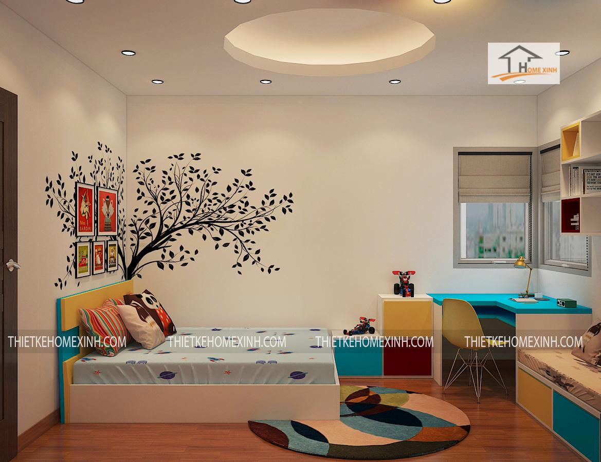 Thiết kế nội thất căn hộ chị Huệ09B – Chung cư Gemek