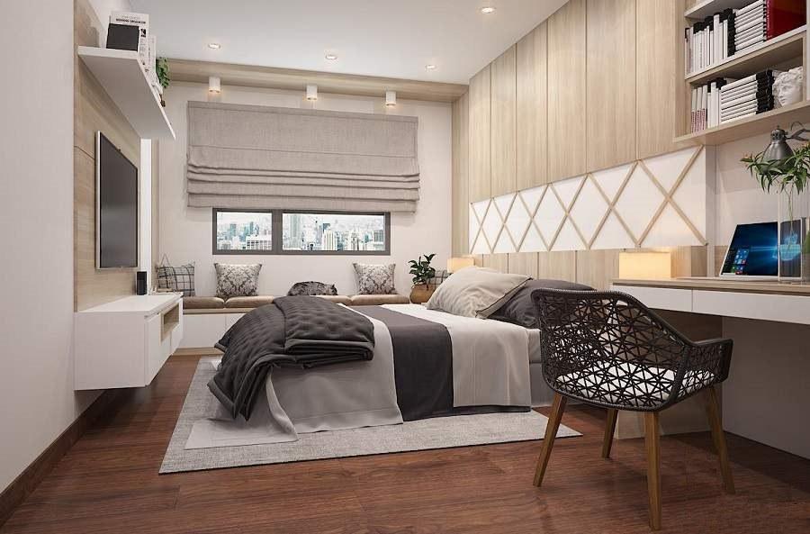 Thiết kế nội thất chung cư 70m2 hiện đại, tinh tế