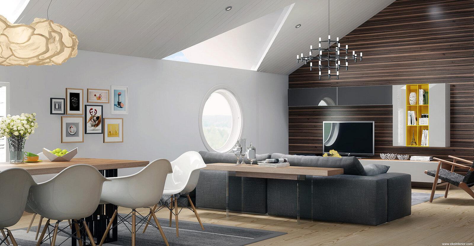 Thiết kế nội thất hiện đại Châu Âu nhìn là thấy mê