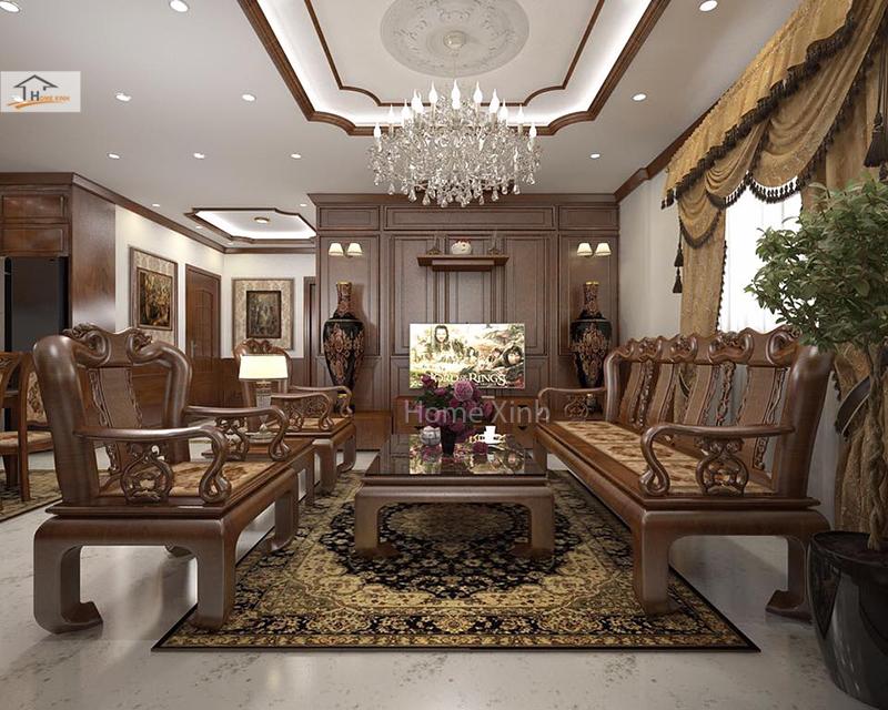 Các mẫu thiết kế nội thất nhà phố bán cổ điển đẹp nhất