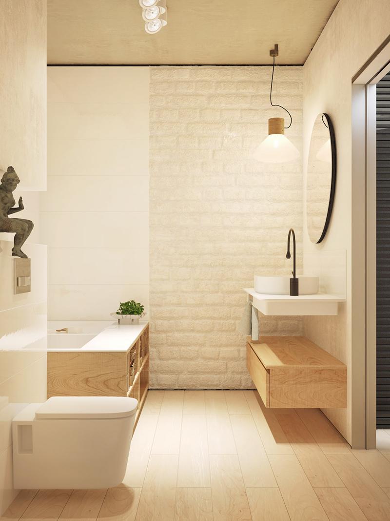 Gam màu đen trắng cùng nội thất gỗ cho ngôi nhà thêm cá tính
