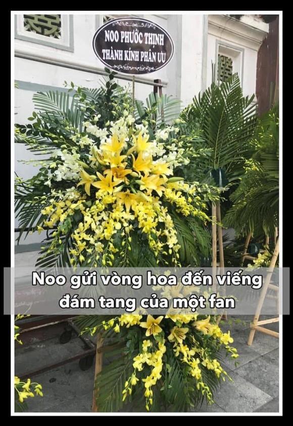 Sống tình cảm như Noo Phước Thịnh: Gửi hoa đến viếng fan ruột qua đời vì bệnh ung thư