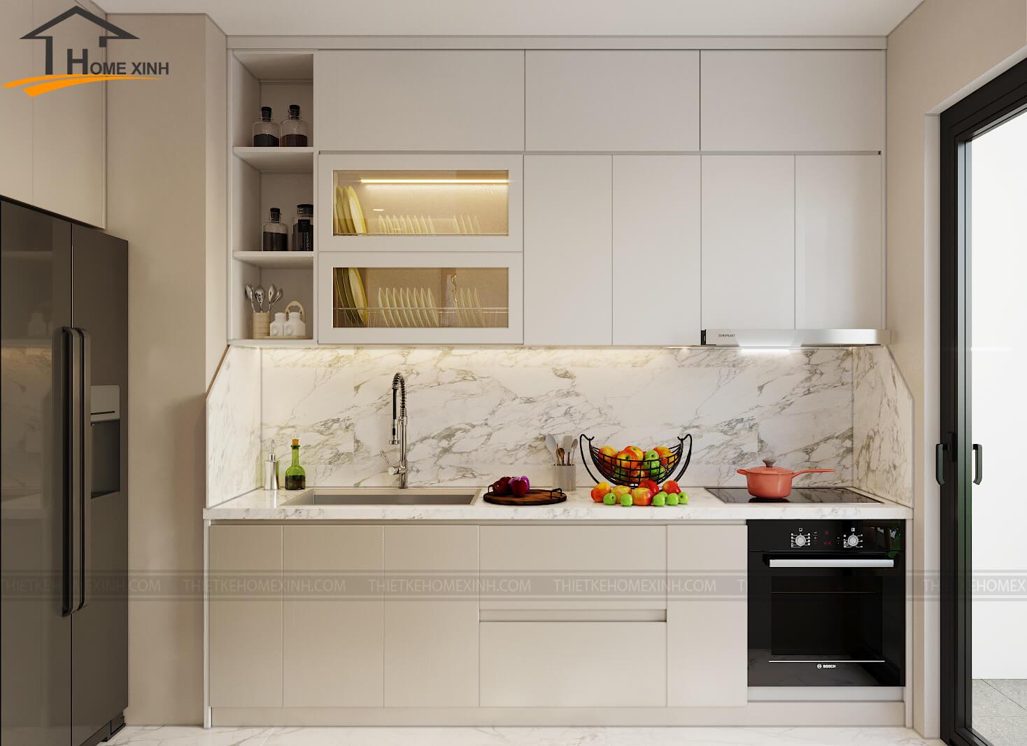 Điều cần tránh khi chọn đồ nội thất phòng bếp chung cư