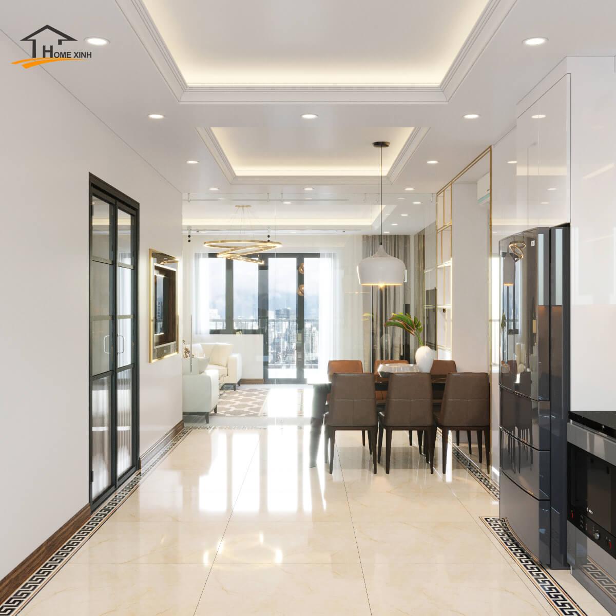 Ưu điểm khi thiết kế nội thất phòng khách liền bếp