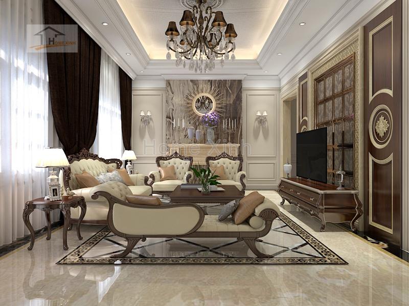 Thiết kế nội thất phòng khách đẹp ấn tượng