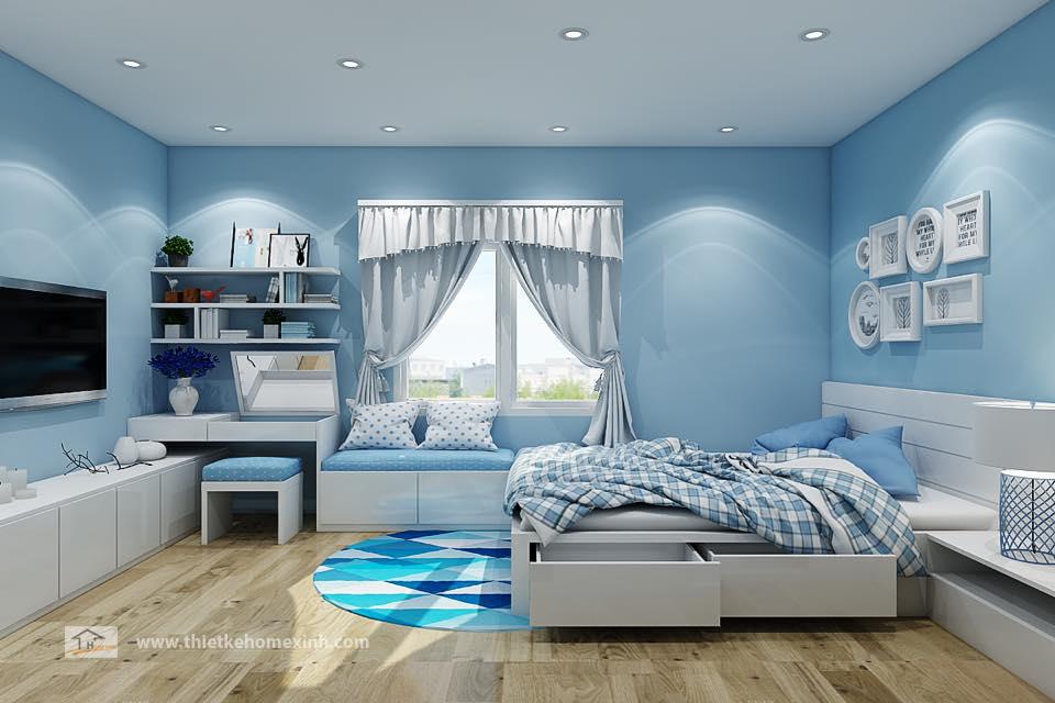 Thiết kế nội thất phòng ngủ cho thanh thiếu niên tại HomeXinh