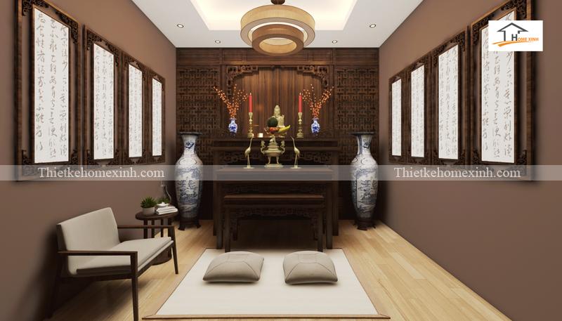 Thiết kế khu vực thờ trong không gian sống hiện đại