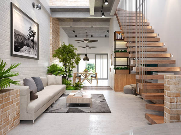 Chọn lọc 5 thiết kế nội thất nhà ống 2 tầng đẹp khó cưỡng