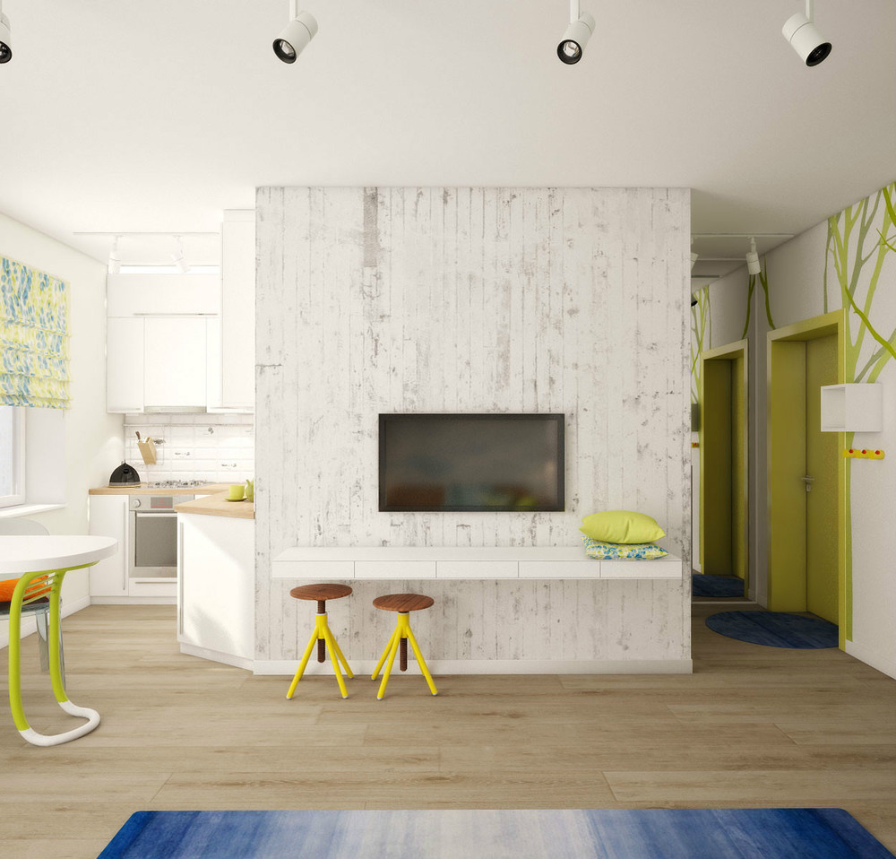Thiết kế nội thất chung cư cực chất với căn hộ vẻn vẹn 25m2