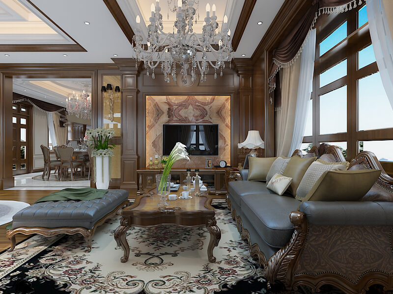 Thiết kế nội thất biệt thự đẹp nhưng không phù hợp cho gia đình có trẻ nhỏ