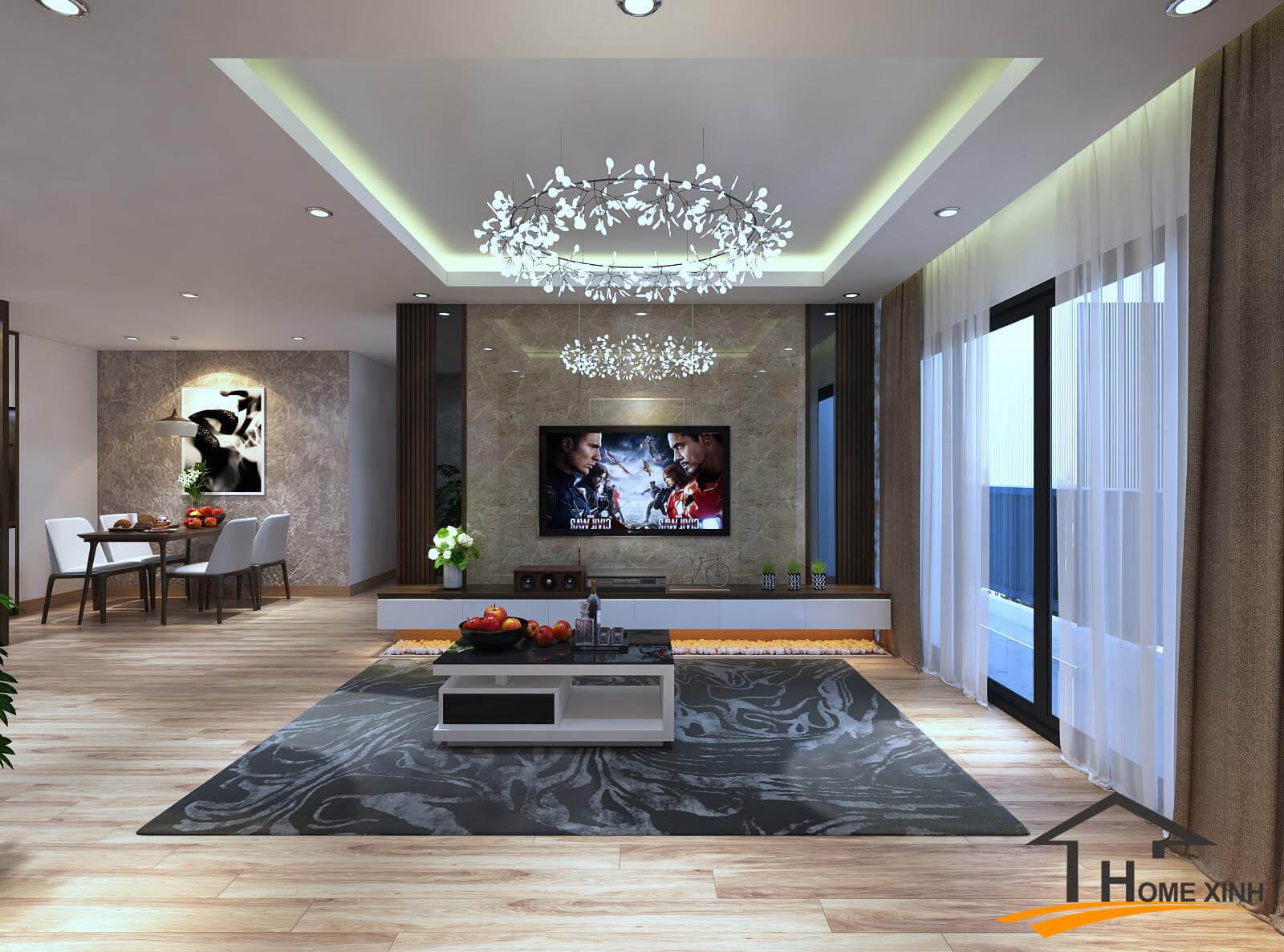 TƯ VẤN: Thiết kế trần nhà chung cư đẹp – HomeXinh