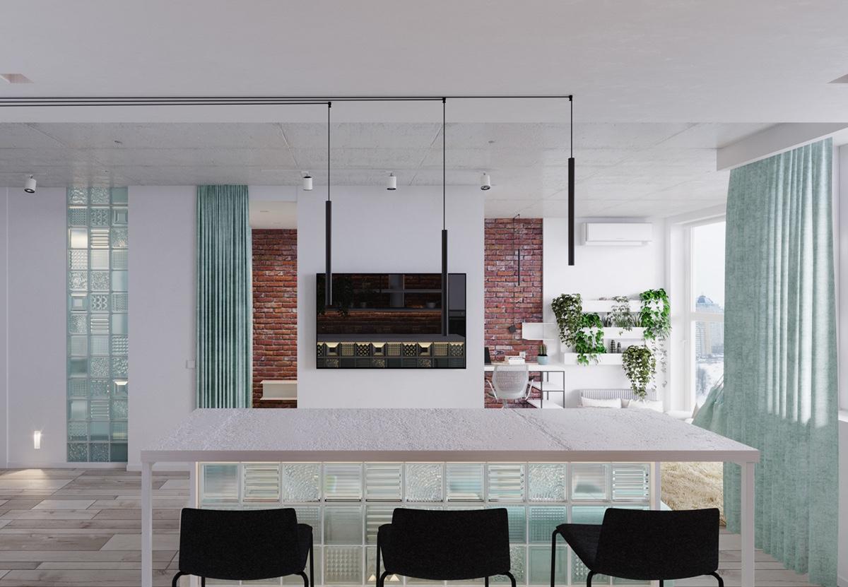 Thiết kế nội thất căn hộ chung cư với phong cách sáng tạo hiện đại