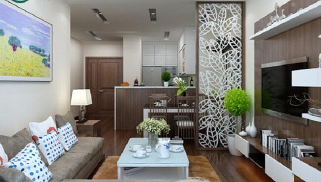 3 mẫu thiết kế nội thất phòng khách chung cư nhỏ ấn tượng