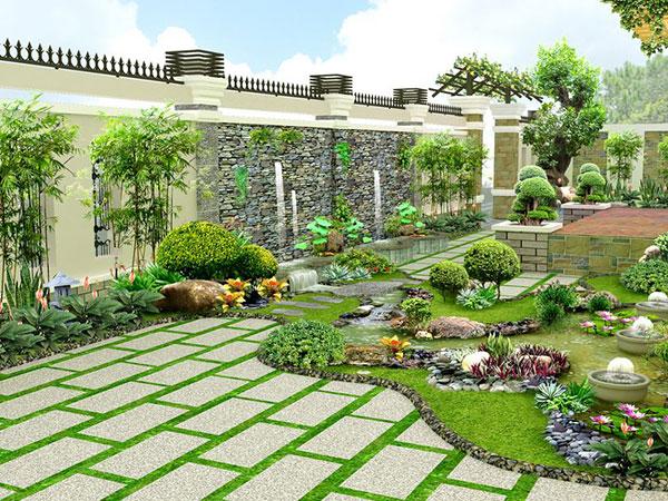 Những yếu tố phong thủy sân vườn – thiết kế sân vườn chuẩn phong thủy