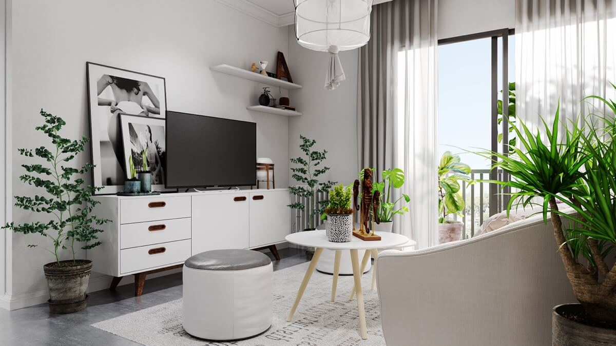 Thiết kế nội thất dịu mát những ngày hè
