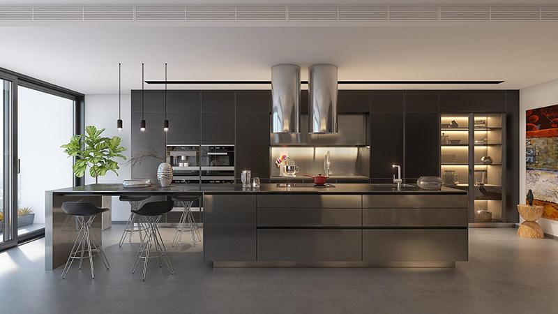 Tủ bếp tối màu – sự lựa chọn hoàn hảo cho không gian phòng bếp